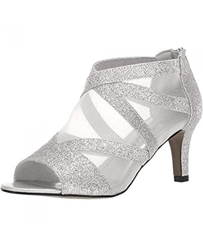 Easy Street Women's Dazzle Pump Silver Glitter 7 M US