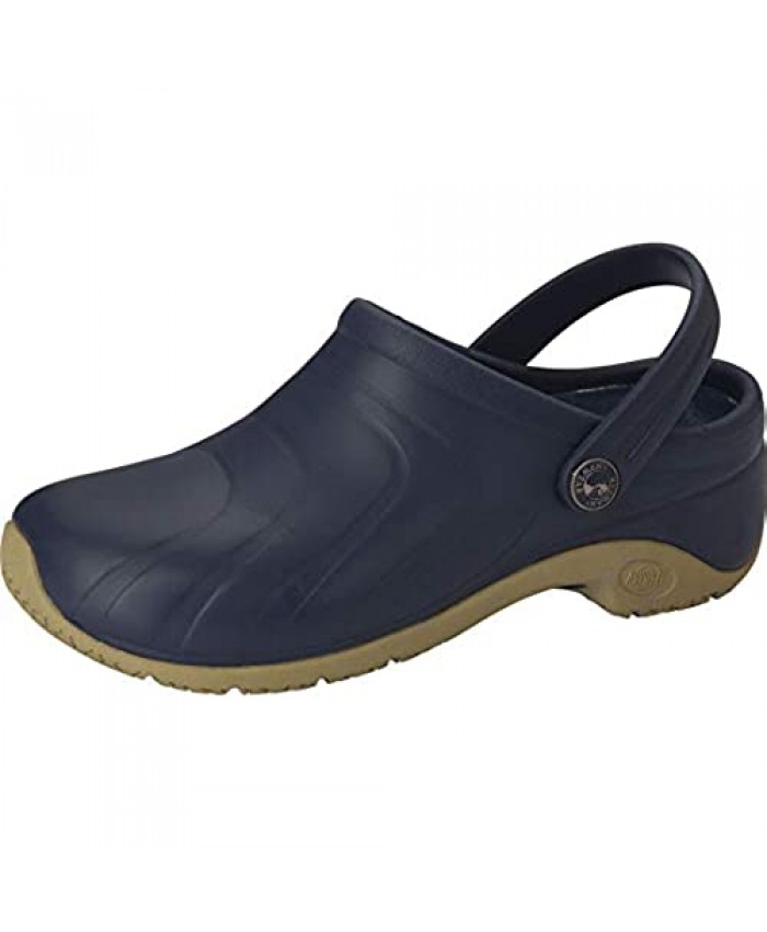 Anywear Zone Women's Healthcare Professional Injected Clog with Backstrap 8 Navy