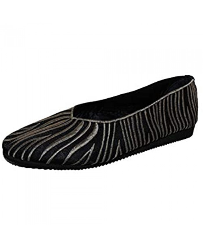 APS Women's Embroidery Satin Handmade Flat Casual Shoes