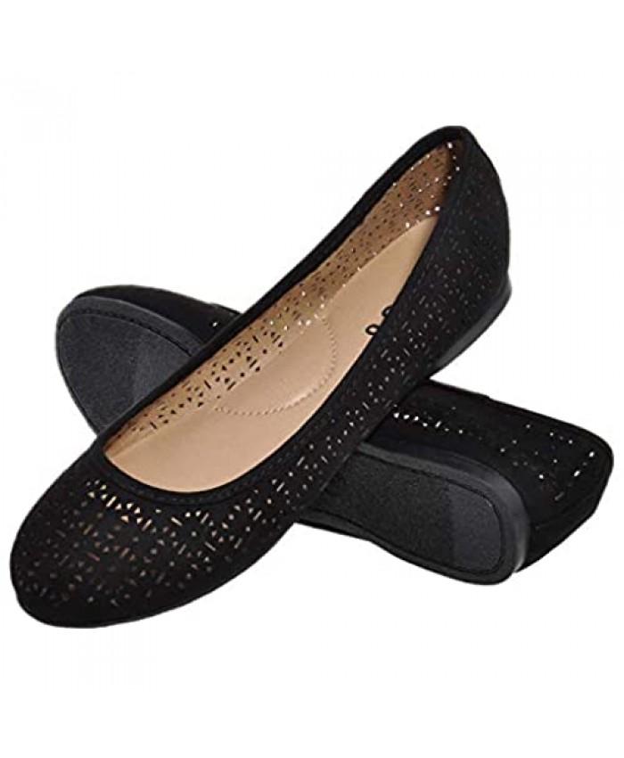 festooning Women's Ballet Flats Comfortable Simple Casual Slip-on Round Toe Walking Flat Shoes