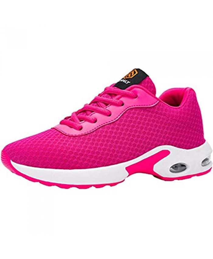 DYKHMATE Womens Walking Shoes Lightweight Air Cushion Fashion Sneakers Comfortable Gym Sport Running Tennis Shoe