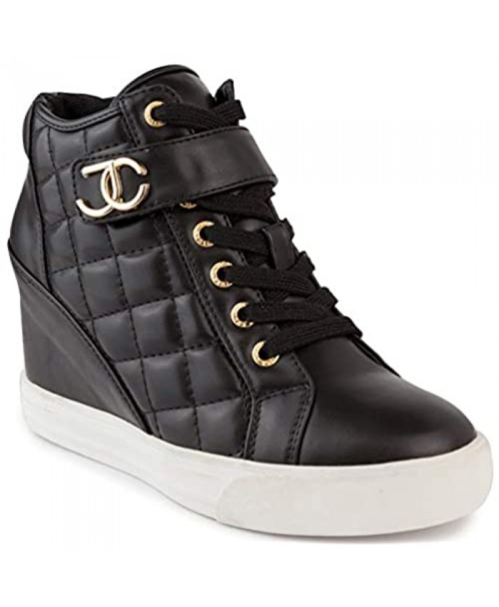 Juicy Couture Womens Wedge Sneakers High Top Womens Sneakers with Wedge Wedgies Sneakers for Women