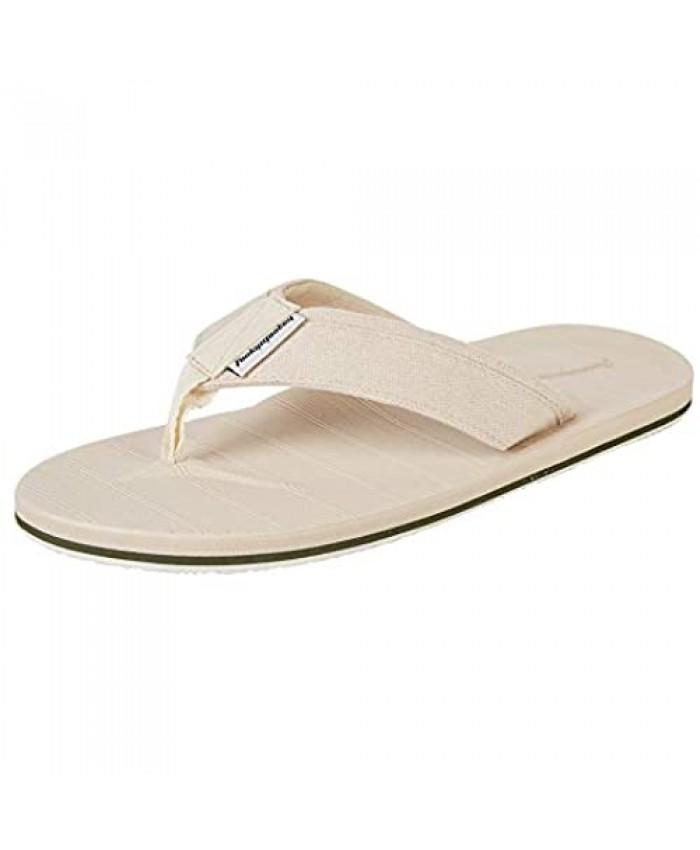 FUNKYMONKEY Men's Thongs Sandals Comfortable Light Weight Beach with Arch Flip Flops