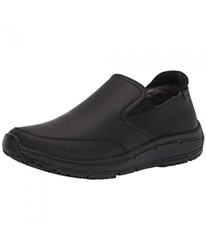 Dr. Scholl's Shoes Men's Boxer Slip-Resistant Slip On Black Leather 12