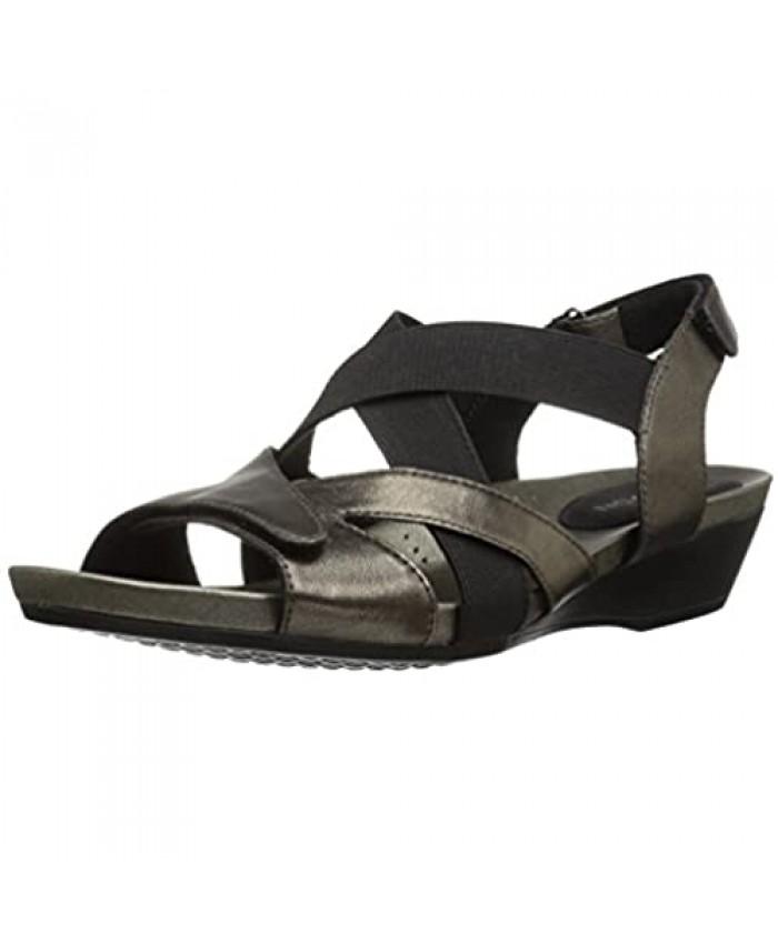 Aravon Women's Standon X Strap Heeled Sandal