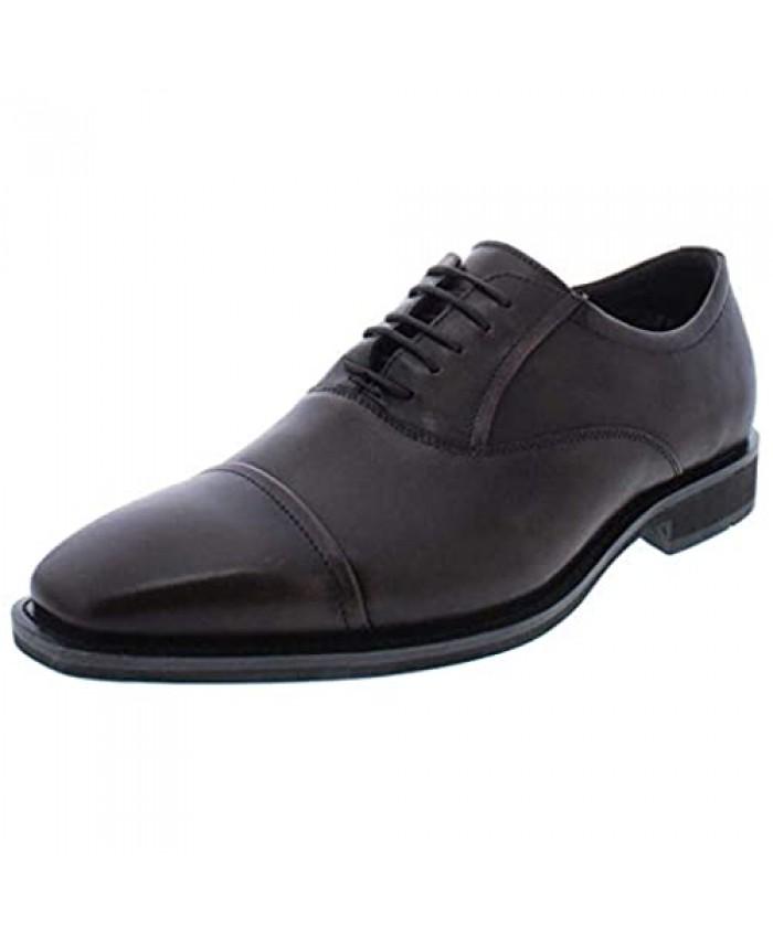ECCO Men's Calcan Cap Toe Shoe Cocoa Brown 44 M EU (10-10.5 US)