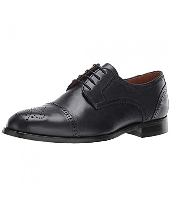 MARC JOSEPH NEW YORK Men's Leather Kensigton 2 Oxford Lace-up Wingtip Dress Shoe