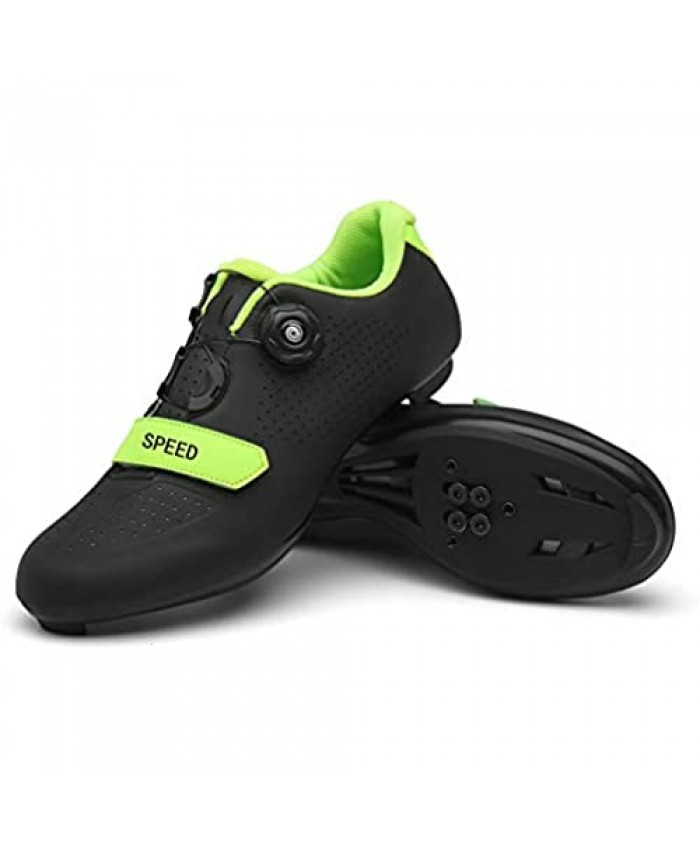 Cycling Shoes for Men Women Road Riding Rotating Shoe Buckle Breathable Cleat Compatible SPD Look Delta Indoor Cycling Spin Shoes