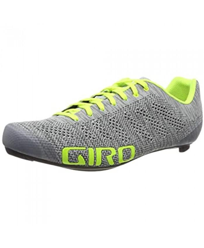 Giro Empire E70 Knit Mens Road Cycling Shoe − 46.5 Grey Heather/Highlight Yellow (2020)