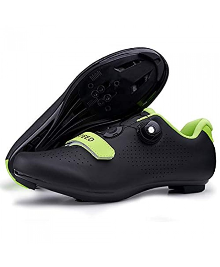 JOYOUNG Men Road Bike Shoes Cycling Shoes Peloton Shoe Spin Shoes for Men Indoor Cycling MTB Spin Cycling Shoe Compatible with SPD Cleats Black