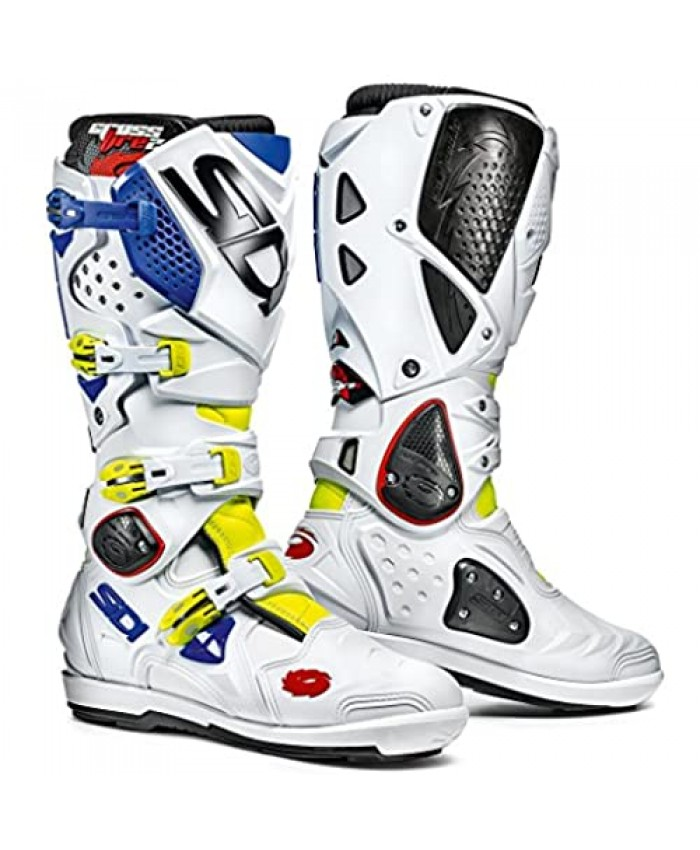 Sidi Crossfire 2 SRS Motorcycle Boot Yellow Fluo/White/Blue Size 48