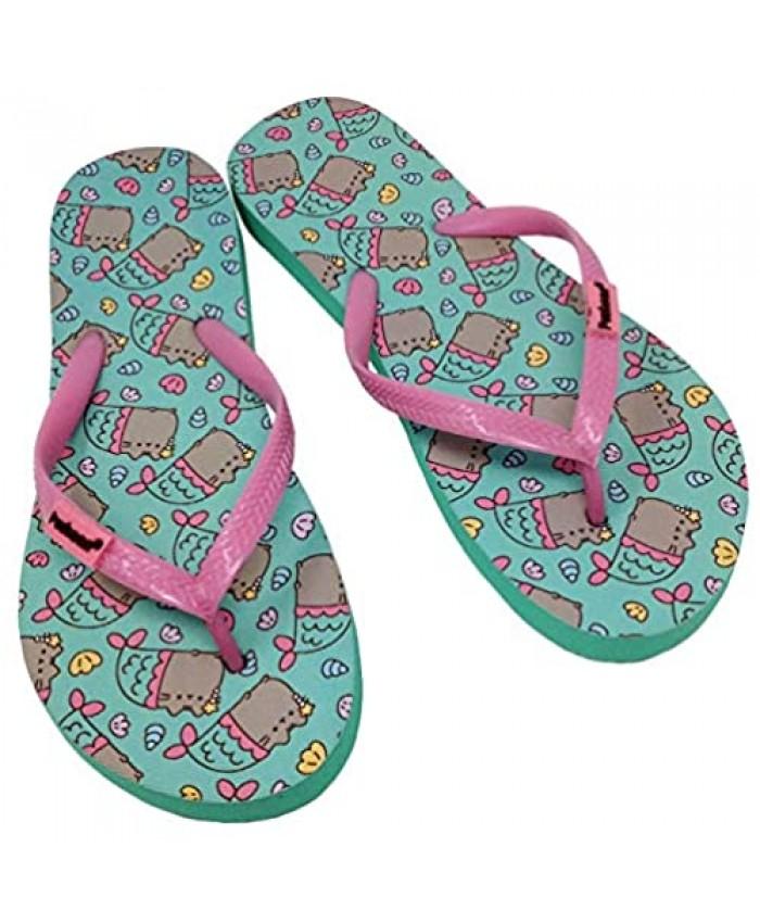 Pusheen Cat Cute Womens Flip Flops Casual Summer Slippers