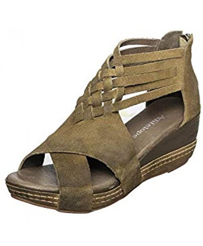 Antelope Women's Tavi Suede Wedge Platform Sandals