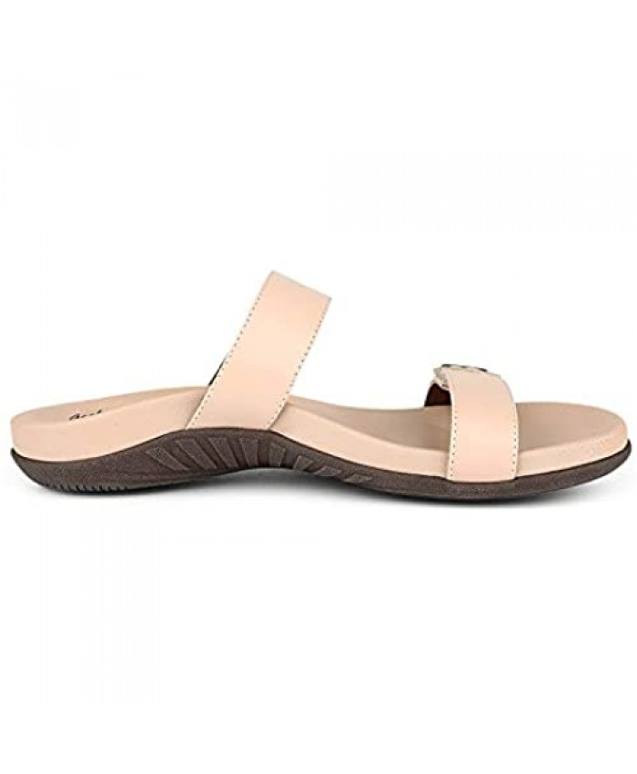Women's Sandals with Arch Support Rubber Sole Sandals with Arch Support Adjustable Clasp Sandals