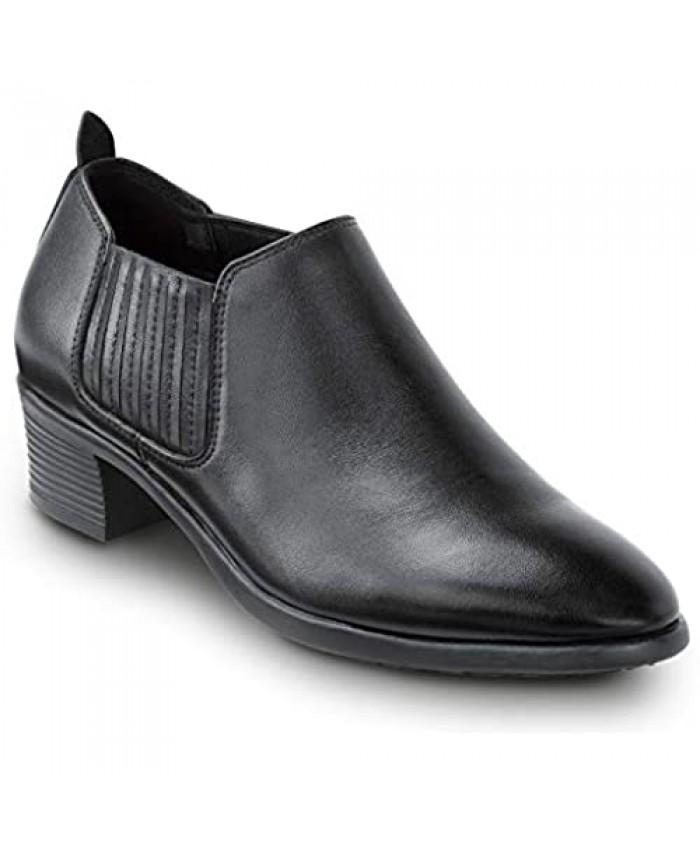SR Max Galena Women's Black Demi Boot Style Soft Toe Slip Resistant Work Shoe