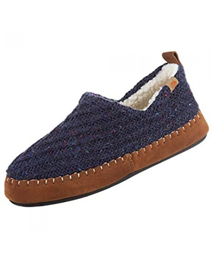 Acorn Women'sCamden Recycled Moccasin Slippers with Berber lining