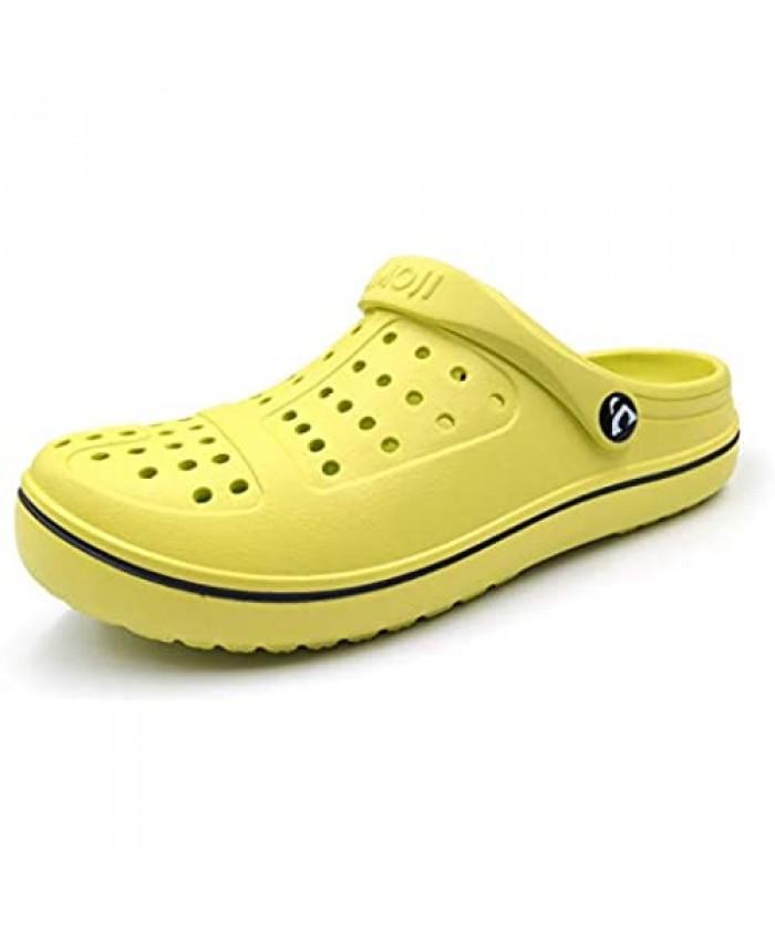 Amoji Unisex Clogs Garden Shoes Slip On Sandals 8818