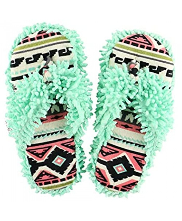 Lazy One Spa Flip-Flop Slippers for Women Girls' Fuzzy House Slippers