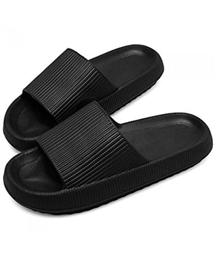 Pillow Slides Slippers for Women Men Indoor Home Bathroom Spa Massage Foam Platform Shower Sandals