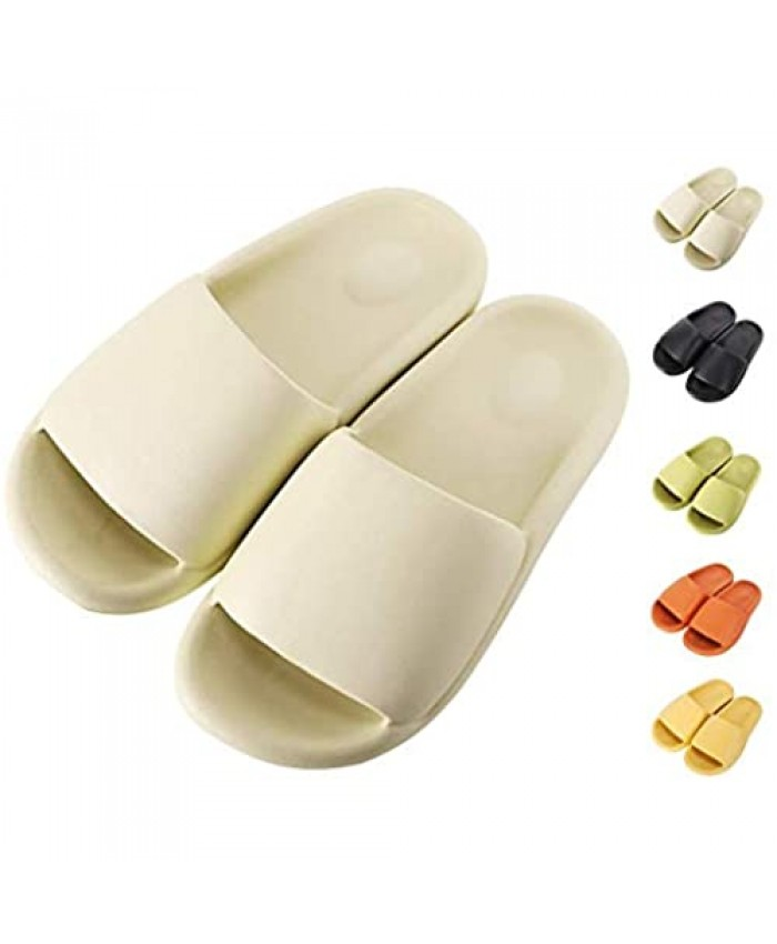 Royal Matrix Women's Non-Slip Pillow Slide Slippers Thickened Sole Quick Drying Bathroom Shower Sandals